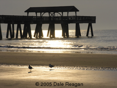 Location:  Tybee Island, Ga - beach fishing pier - Stock Photo by Dale Reagan